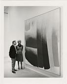 "view Presentation of Painting ""Trough"" by Friedel Dzubas to Hirshhorn Museum and Sculpture Garden (HMSG) digital asset number 1"