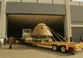 """view Apollo 14 Command Module """"Kitty Hawk"""" at LA Convention Center digital asset number 1"""