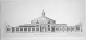 view Preliminary Drawing of United States National Museum Building by Adolf Cluss & Frederick Daniel digital asset number 1