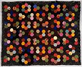 view 1850 - 1900 Hexagon Wool Table Mat digital asset number 1