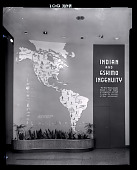 """view Maps of North and South America in """"Indian and Eskimo Ingenuity"""" Exhibit Mural digital asset number 1"""