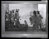 "view ""Capt. John Smith Trading with Powhatan Indians on the James River in 1607"" Exhibit Case digital asset number 1"
