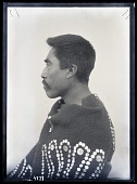 view Portrait in Profile of Kwakiutl Man digital asset number 1