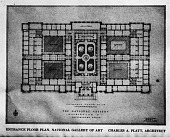 view Platt's Plan for Entrance Floor Plan of The National Gallery digital asset number 1