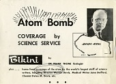 view Atom Bomb Coverage by Science Service digital asset number 1