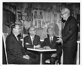view (left to right): John Bardeen (1908-1991), William Bradford Shockley (1910-1989), Charles Hard Townes (b. 1915), and Walter Houser Brattain (1902-1987) digital asset number 1