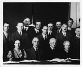 view Physicists at the Seventh Solvay Physics Conference, Brussels, Belgium, October 1933 digital asset number 1
