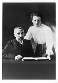 view Pierre Curie (1859-1906) and Marie Sklodowska Curie (1867-1934), c. 1903 digital asset number 1