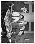 view left to right: George J. T. Gunn, John W. Foster, George G. Jimenez, T. L. Shang, and Victor de Mattos Cardoso digital asset number 1