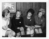 view (left to right): Billington; Betty Naomi Goldstein Friedan (1921-2006); Barbara Ireton (1932-1998); and Marguerite Rawalt (1895-1989) digital asset number 1