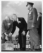 view left to right: Eugene Martin Zuckert, Albert Arnold Gore, Sr., and Commander Major General William Loveland Rogers digital asset number 1