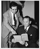 view Arthur Lejwa (standing) with Robert Gould (seated) digital asset number 1
