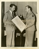 view Dr. Tsuno-chi Yu (left) with Mutual Broadcasting System war correspondent Royal Arch Gunnison digital asset number 1