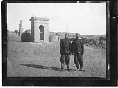 view China, Miscellaneous Scenes - Two men standing in front of a structure digital asset number 1