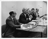 view left to right: Arthur Maynard Bueche, Donald Frederick Hornig, Franklin Asbury Long, Frank Henry Westheimer, and Robert S. Morison digital asset number 1