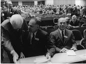 view Captain Edward R. Gardner (left), Glenn Theodore Seaborg (center), and Donald Frederick Hornig (right) digital asset number 1