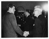 view John Fitzgerald Kennedy (left) and Joseph H. Kraus (right) digital asset number 1