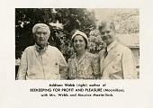 view left to right: Maurice Maeterlinck (1862-1949), Mrs. Addison Webb, and Addison Webb (b. 1900) digital asset number 1