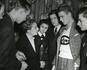 view Lise Meitner (1878-1968) with Science Talent Search finalists, 1946 digital asset number 1