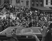 view President Reagan and First Lady Wave to Crowd along Parade Route digital asset number 1