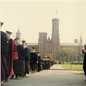 view James Smithson Bicentennial Celebration Procession: Smithsonian Castle Visible in Background digital asset number 1