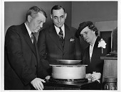 view left to right: Harold Clayton Urey (1893-1981), Lyle H.B. Peer (1898-1987), and Frieda Daum Urey (1898-1992) digital asset number 1