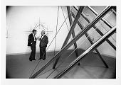 view Abram Lerner & Joseph H. Hirshhorn in a Sculpture Exhibit digital asset number 1