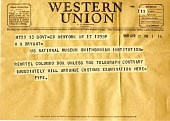 view Telegram from Howard Fyfe to Herbert S. Bryant digital asset number 1