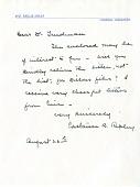view Letter from Mrs. C. B. Ripley to Herbert Friedmann digital asset number 1