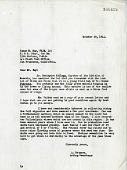 view Letter from Alexander Wetmore to Sammy Ray, October 19, 1944 digital asset number 1