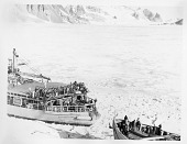 view The USS Burton Island (AG-88) and the USS Edisto (AG-89) Breaking Ice digital asset number 1