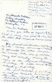 view Letter from Sammy Ray to Alexander Wetmore, September 3, 1944 digital asset number 1