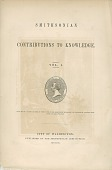 "view Cover of Smithsonian ""Contributions to Knowledge Volume 1"" digital asset number 1"