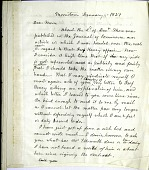 view Letter from Alfred Vail to Samuel Morse, January 11, 1857 digital asset number 1