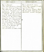 view Diary of Alfred Vail, September 8 and 9, 1848 Entries digital asset number 1