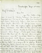 view Letter from Solomon G. Brown to S. F. Baird, September 6, 1862 digital asset number 1