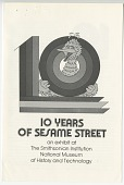 "view Cover Page to ""10 Years of Sesame Street"" Pamphlet digital asset number 1"
