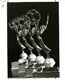 "view Four Emmy Statuettes awarded for the Smithsonian Film ""Celebrating a Century"" digital asset number 1"