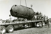 """view Boiler of Freighter """"Indiana"""" Placed on a Truck for Transport digital asset number 1"""