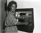 view Ann Leven Using the First ATM in the National Air and Space Museum digital asset number 1