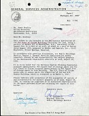 view Letter A. W. Innamorati to James Bradley, August 8, 1966, Page 1 of 1 digital asset number 1