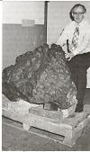 view Curator Roy S. Clarke with Meteorite digital asset number 1