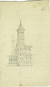 view Smithsonian Institution Building, circa 1848 digital asset number 1