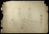 view Elevation of the Smithsonian Institution Building's North Fac̦ade digital asset number 1