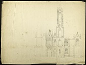 view Elevation of the Smithsonian Institution Building's North Facade digital asset number 1
