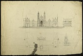 view Earliest Known Sketches of the Smithsonian Institution Building digital asset number 1