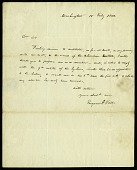 view Letter from Eugene A. Vail to Asbury Dickens, February 18, 1822 digital asset number 1