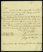 view Letter from George E. Ironside to Asbury Dickens, Esquire, Secretary of the Columbian Institute, September 4, 1820 digital asset number 1
