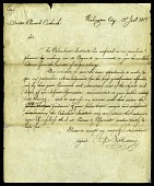 view Letter from Nathaniel Cutting to Edward Cutbush, January 12, 1817 digital asset number 1