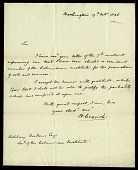 view Letter from William Cranch to Asbury Dickens, Secretary of the Columbian Institute, October 19, 1826 digital asset number 1